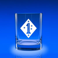 1st Marine Division - Deluxe Rocks Glass Set
