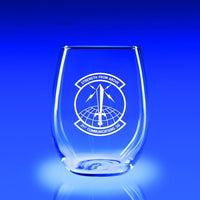 USAF 21st Communication Squad - 21 oz. Stemless Wine Glass Set
