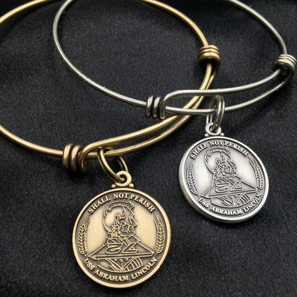 USS Abraham Lincoln Bangle Bracelet