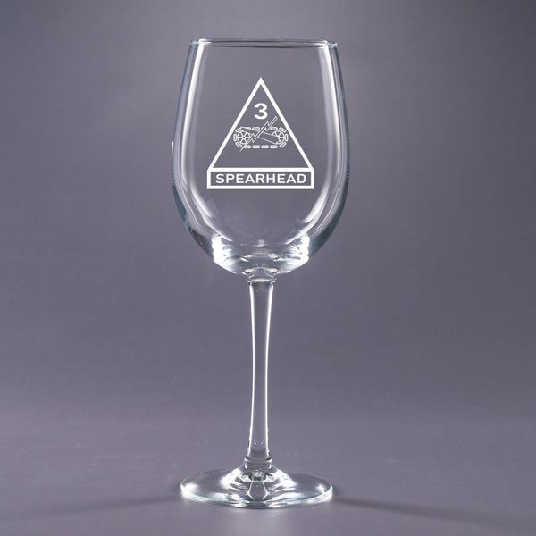 3rd Armored - 16 oz. Wine Glass Set