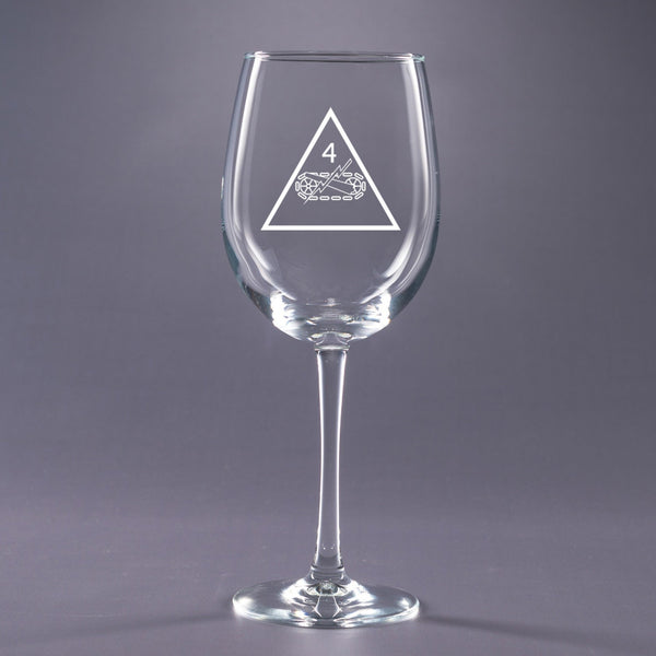 4th Armored - 16 oz. Wine Glass Set