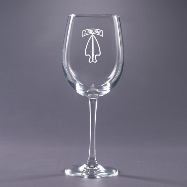 Army Special Operations Command-16 oz. Wine Glass Set