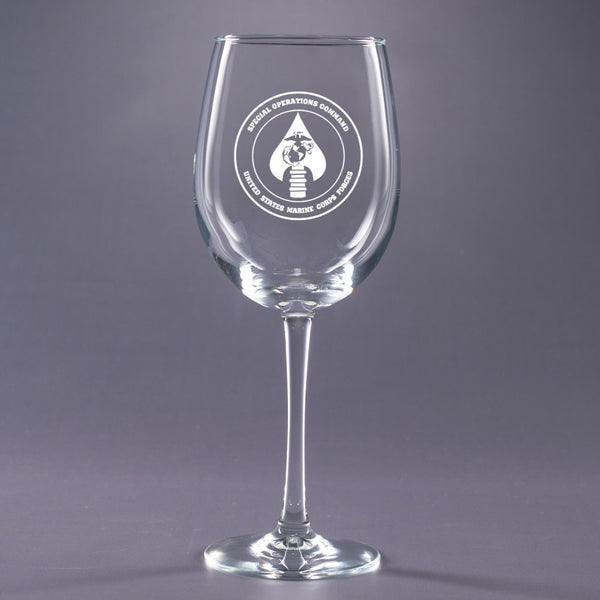 USMC Special Ops Command-16 oz. Wine Glass Set