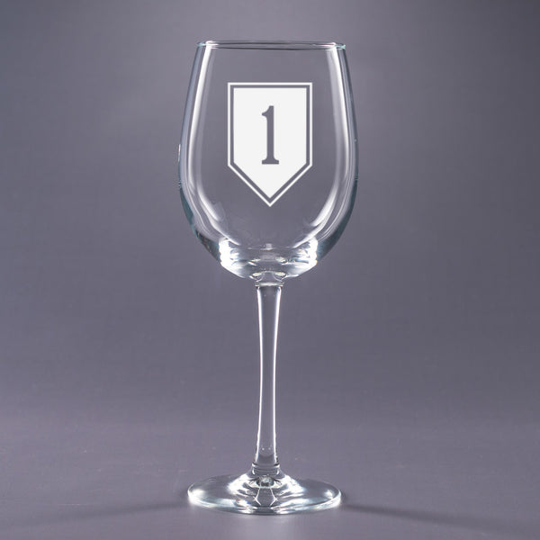 1st Infantry Division - 16 oz. Wine Glass Set