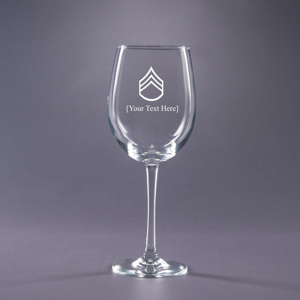 Army Staff Sergeant-16 oz. Wine Glass Set