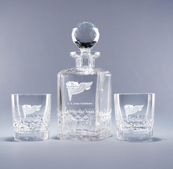 Genuine Crystal Decanter - Pathfinder Badge (with free customization)