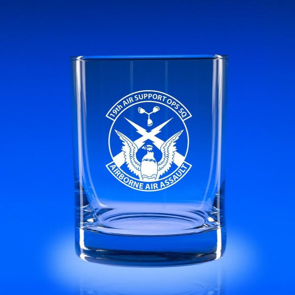 19th Air Support Operations Squadron - Deluxe Rocks Glass Set