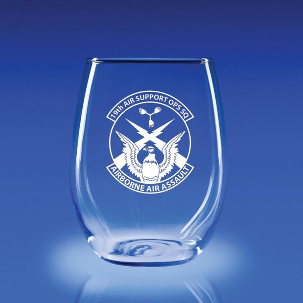 19th Air Support Operations Squadron - 21 oz. Stemless Wine Glass Set