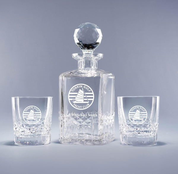 Genuine Crystal Decanter -Tonkin Gulf Yacht Club (with free customization)