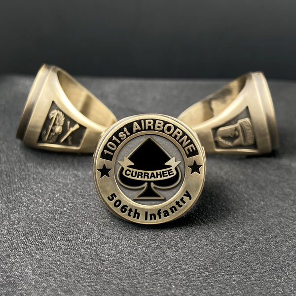 "101st Airborne ""Currahee"" Dress Ring (with Battalion options)"
