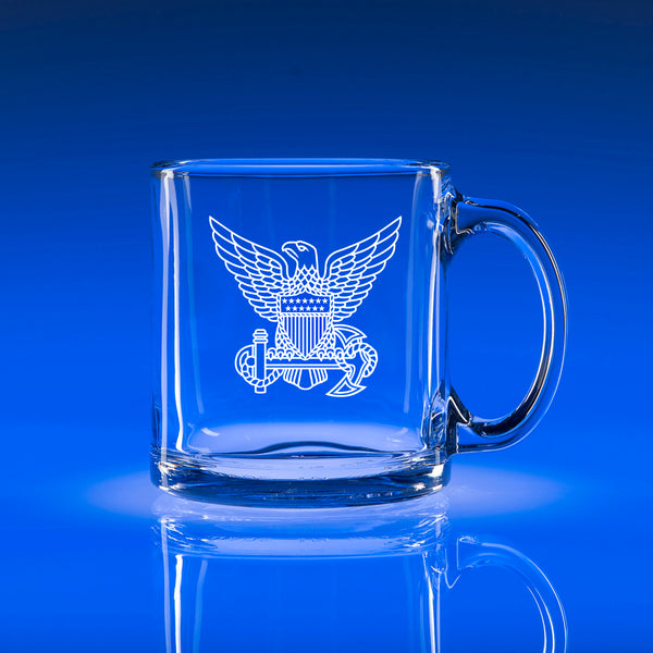 USCG Officer Hat Badge - 13oz. Coffee Mug