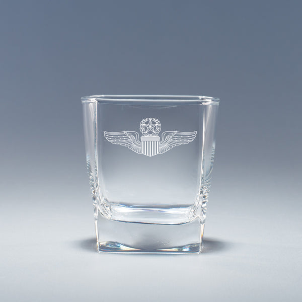 USAF Master Pilot Wings -  Geo Rocks Glass Set