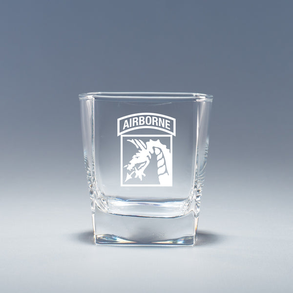XVIII Airborne Corps - Geo Rocks Glass Set