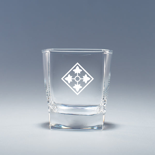 4th Infantry Division - Geo Rocks Glass Set