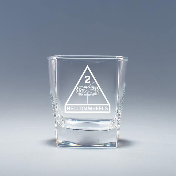 2nd Armored Division -  Geo Rocks Glass Set