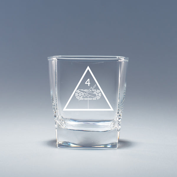4th Armored Division - Geo Rocks Glass Set