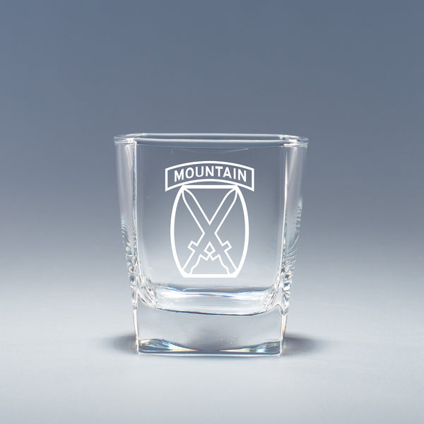 10th Mountain Division - Geo Rocks Glass Set