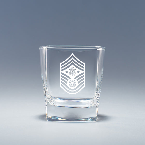Chief Master Sergeant of the Air Force -  Geo Rocks Glass Set