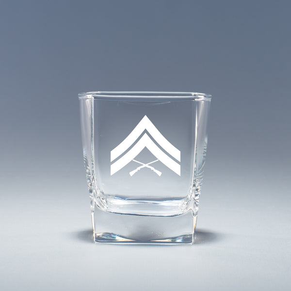 USMC Corporal -  Geo Rocks Glass Set