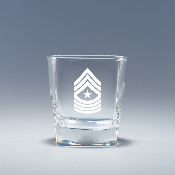 USMC Sergeant Major -  Geo Rocks Glass Set