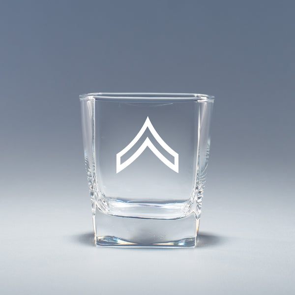 Army Corporal - Geo Rocks Glass Set