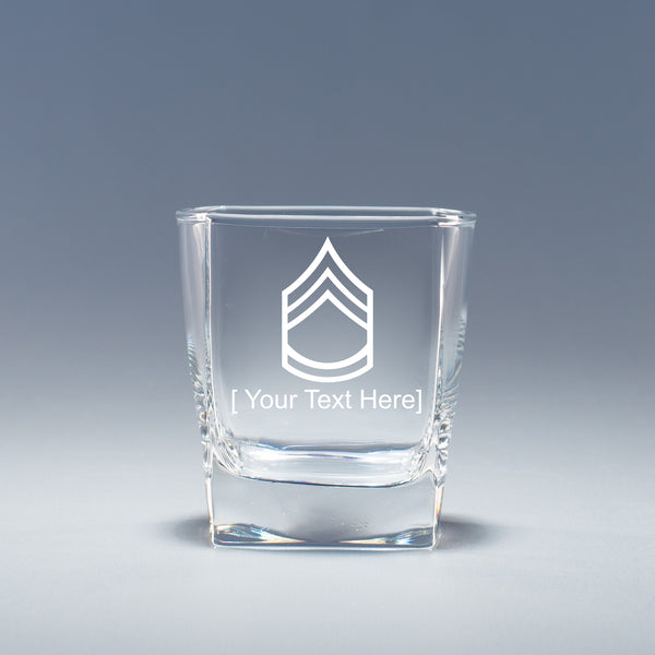 Army Sergeant 1st Class -  Geo Rocks Glass Set