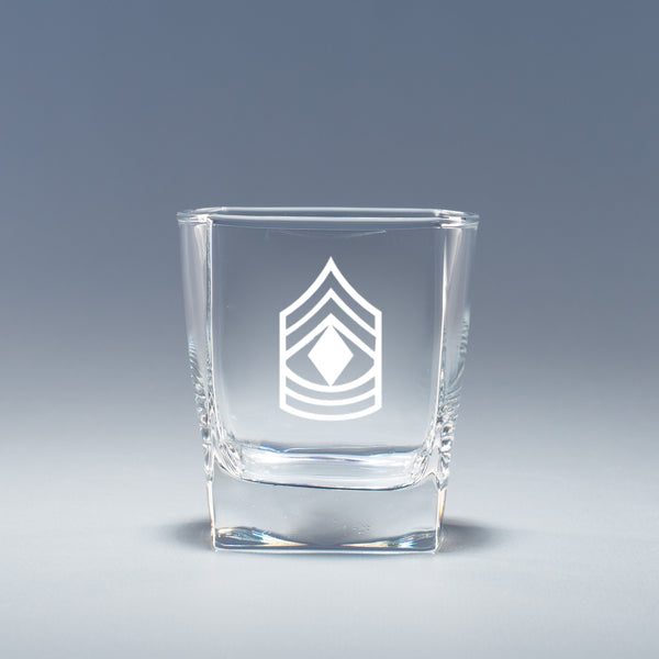 Army 1st Sergeant - Geo Rocks Glass Set