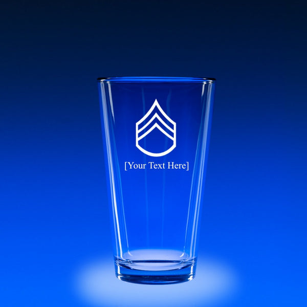 Army Staff Sergeant - 16 oz. Micro-Brew Glass Set