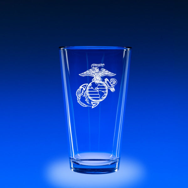 USMC Logo - 16 oz. Micro-Brew Glass Set