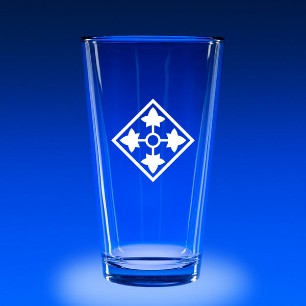 4th Infantry Division - 16 oz. Micro-Brew Glass Set