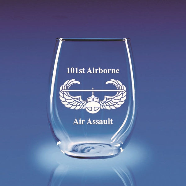 Air Assault - 21 oz. Stemless Wine Glass Set