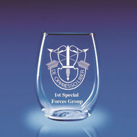 Army Special Forces DUI - 21 oz. Stemless Wine Glass Set