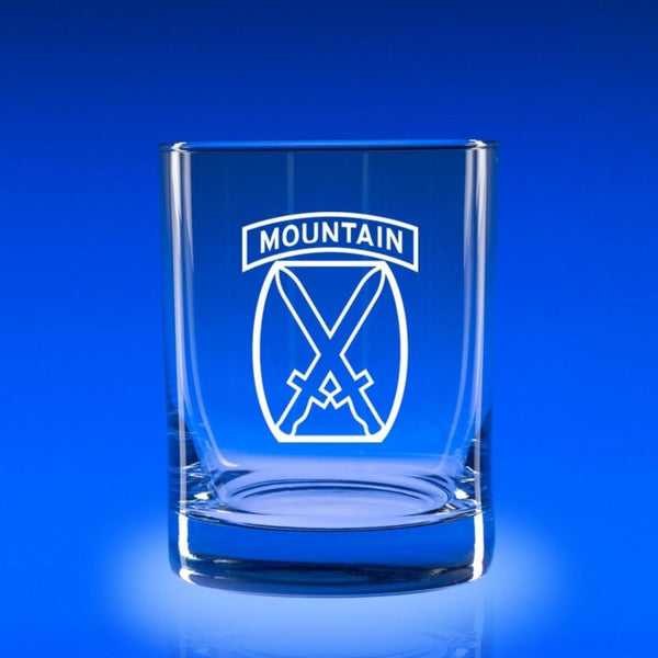 10th Mountain Division - Deluxe Rocks Glass Set