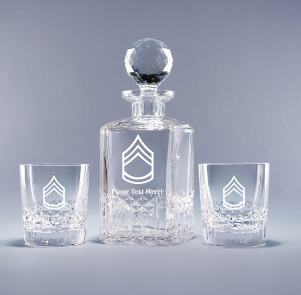 Genuine Crystal Decanter - Army Sergeant 1st Class (with free customization)