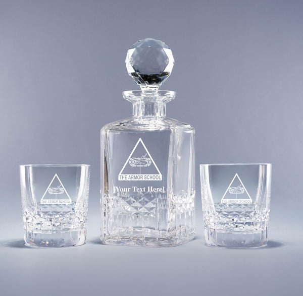 Genuine Crystal Decanter - Armor School (with free customization)