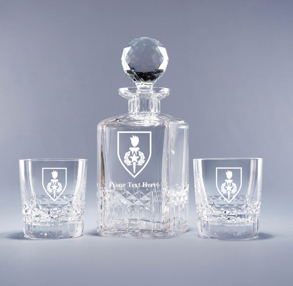 Genuine Crystal Decanter - Army Sergeant Major School (with free customization)