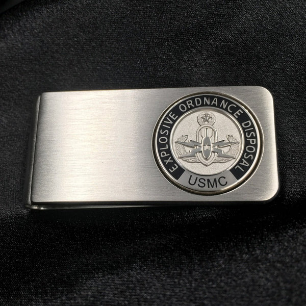 EOD Silvertone Money Clip