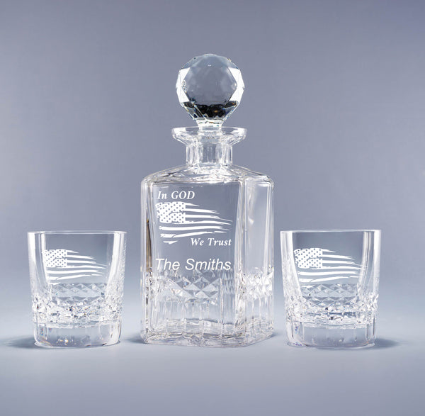 Genuine Crystal Decanter - In God We Trust (with free customization)