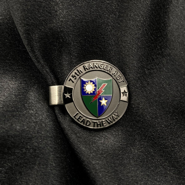 "75th Ranger Regiment - 1"" Tie Clip in Gunmetal"