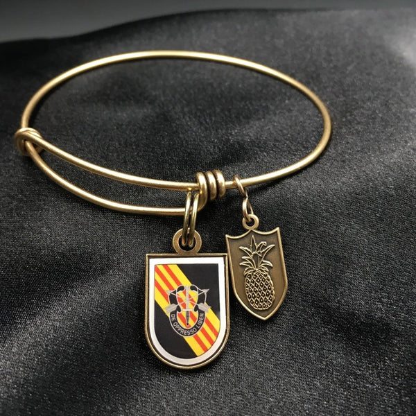 5th Special Forces Group - Colored Dome Bangle Bracelet