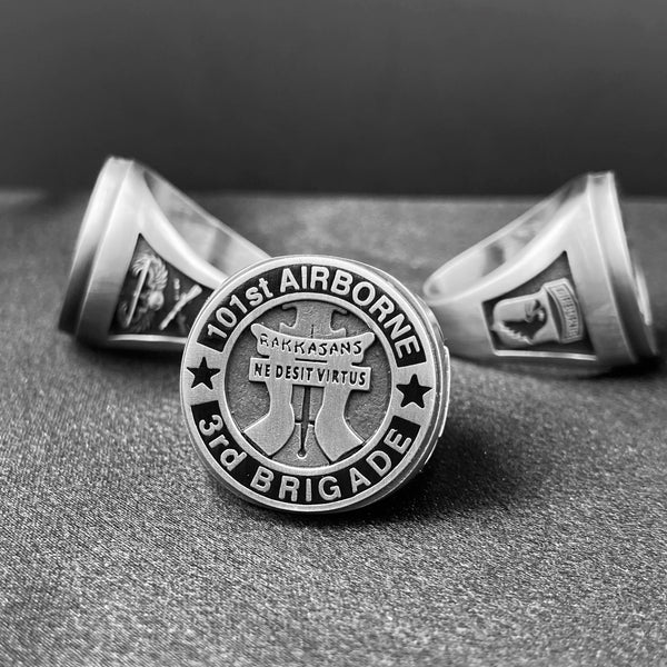 "101st Airborne ""Rakkasans"" Dress Ring (with Regimental text options)"