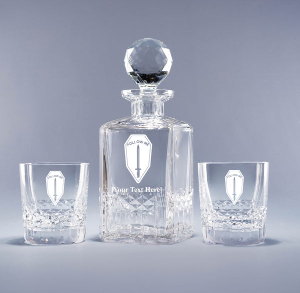 Genuine Crystal Decanter - Infantry School (with free customization)