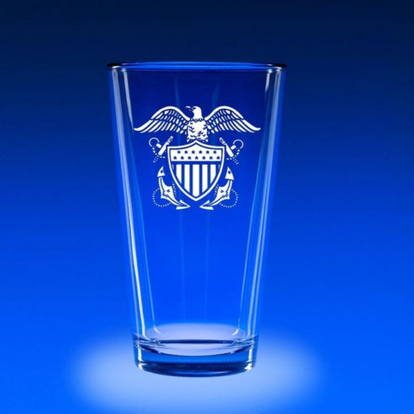 Naval Officer's Crest - 16 oz. Micro-Brew Set