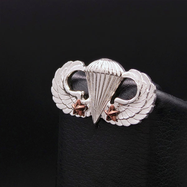 Combat Parachutist Badge - 2nd Award (M.I. Finish)