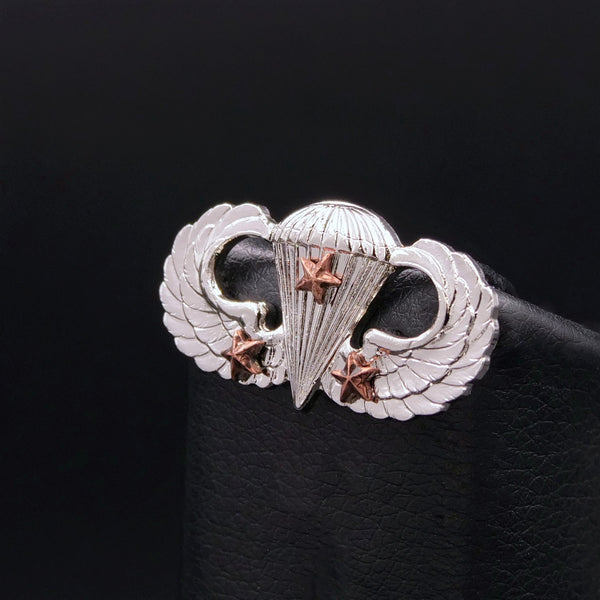 Combat Parachutist Badge - 3rd Award (M.I. Finish)