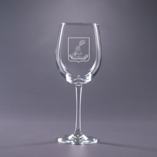 School of Advanced Military Studies-16 oz. Wine Glass Set