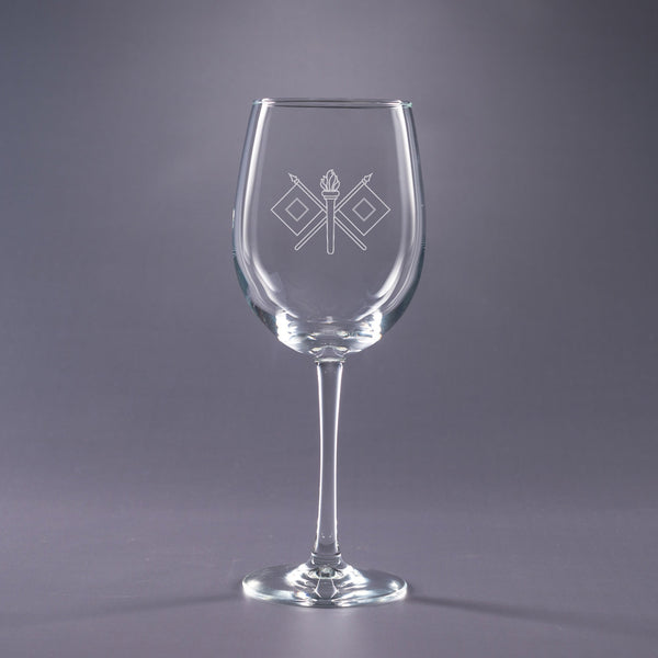 Signal Corps-16 oz. Wine Glass Set