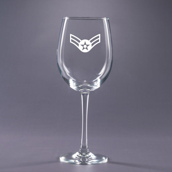 USAF Airman 1st Class-16 oz. Wine Glass Set