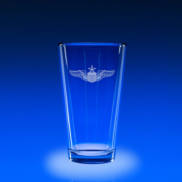 USAF Master Pilot Wings-16 oz. Micro-Brew Glass Set