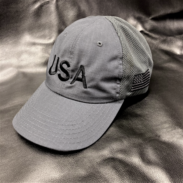 USA Embroidered Charcoal Hat